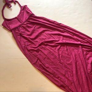 Soybu halter neck striped maxi dress
